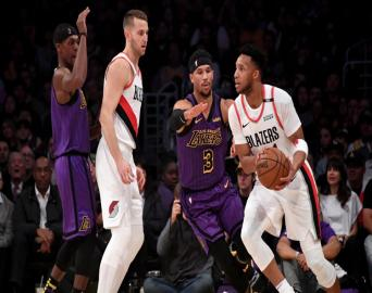 Los Angeles Lakers: 126 Portland Trail Blazers:117